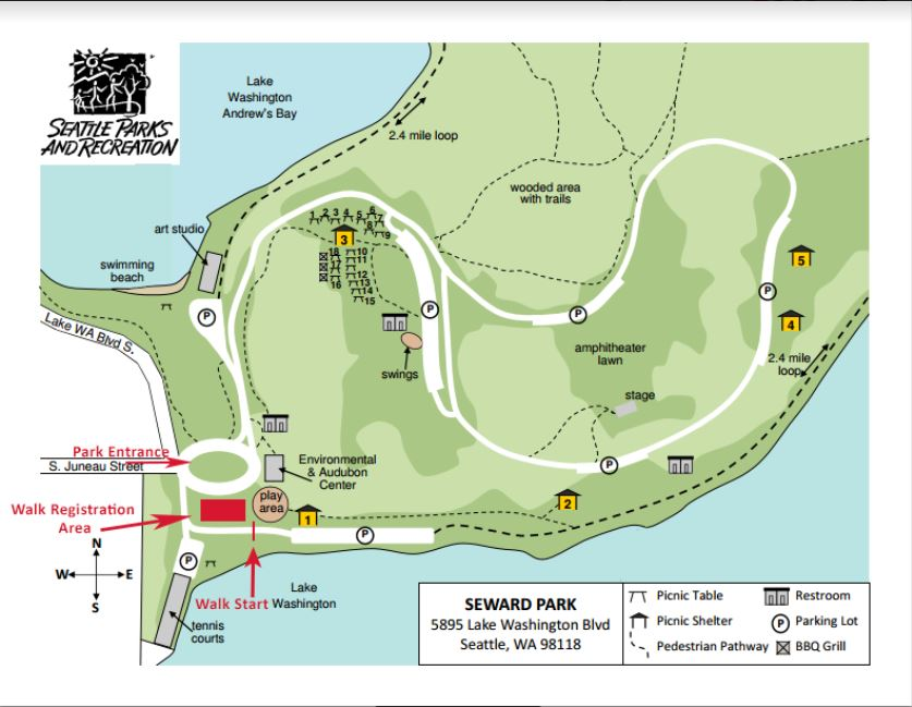 Seattle Walk Event Map